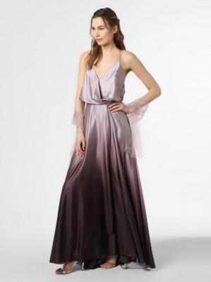 Unique - Damska sukienka wieczorowa z etolą, brązowy