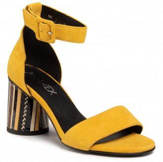 Sandały ANN MEX - 0735 10W + 12PSB Żółty