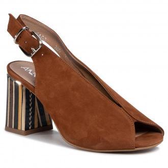 Sandały ANN MEX - 0960 12WR+PS Brązowy