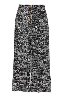 Cellbes Wzorzyste spodnie typu culotte zkrepy Czarny we wzory