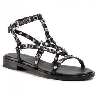 Sandały BRONX - 84820-A Black/Silver 187
