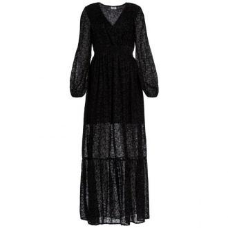 Liu Jo Sukienka wieczorowa W69041 J4005 Czarny Regular Fit