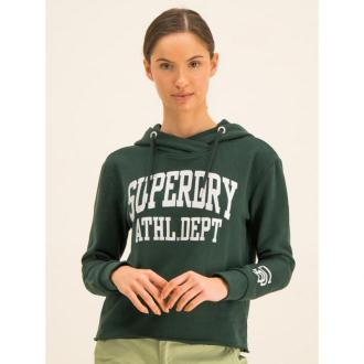 Superdry Bluza Super Arch App College Crop W2000099A Zielony Regular Fit