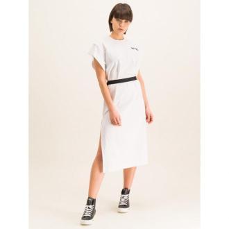 Diesel Sukienka codzienna D-Flix-B 00SDCF 0QANW Biały Regular Fit