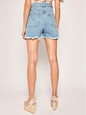 Diesel Szorty jeansowe De-Lowy Calzoncini 00SR0N 0AAYM Niebieski Regular Fit