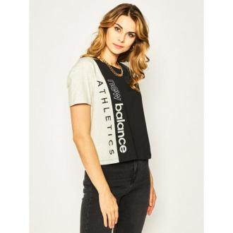 New Balance T-Shirt Blocked Grx T WT01506 Czarny Relaxed Fit
