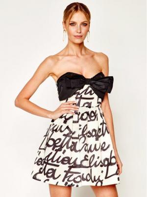 Elisabetta Franchi Sukienka koktajlowa AB-247-02E2-V399 Kolorowy Regular Fit