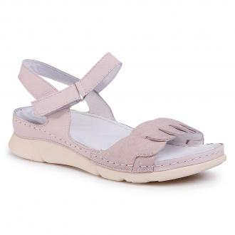 Sandały WALDI - 0743 Nubuk Pigi/Nubuk Róż