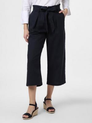 Franco Callegari - Spodnie damskie z dodatkiem lnu, niebieski