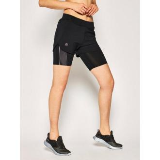 Under Armour Szorty sportowe Run 2-in-1 1350189 Czarny Regular Fit