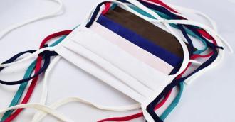 Maseczka MIX kolorów bawełniana dwuwarstwowa wielokrotnego użytku PROMOCJA