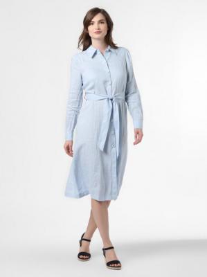 Tommy Hilfiger - Damska sukienka lniana, niebieski