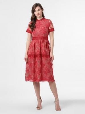 Vila - Sukienka damska – VIDixie, czerwony