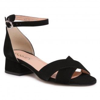 Sandały ANN MEX - 0858 01W Czarny