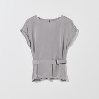 Mohito - Gładka bluzka z paskiem -