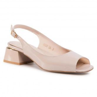 Sandały SAGAN - 3980  Beżowy Lakier