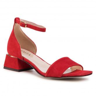 Sandały SAGAN - 4205  Flamingo Welur