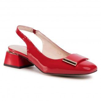 Sandały SAGAN - 4284  Czerwony Lakier