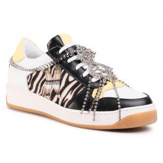 Sneakersy HEGO'S MILANO - 1333 Combi Zebra/Bianco/Giallo