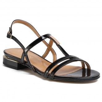 Sandały SAGAN - 4118 Czarny Lakier