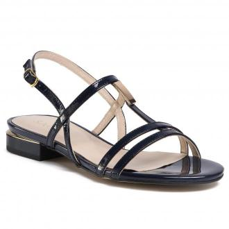 Sandały SAGAN - 4118 Granatowy Lakier