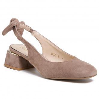 Sandały SAGAN - 4120 Beżowy Welur