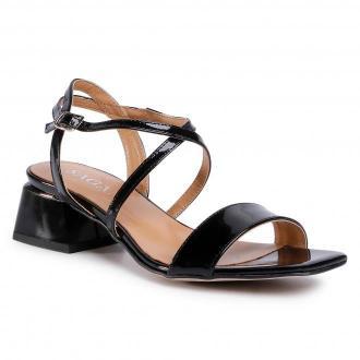Sandały SAGAN - 4203 Czarny Lakier