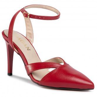 Sandały SAGAN - 4242 Czerwony Lico