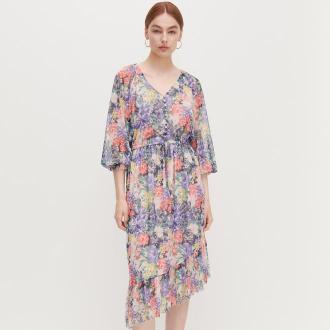 Reserved - Sukienka w kwiaty - Wielobarwny