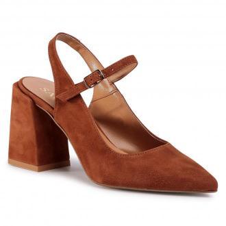 Sandały SAGAN - 4276  Brązowy Welur