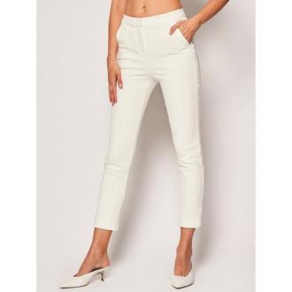 KARL LAGERFELD Chinosy Punto 201W1015 Biały Slim Fit