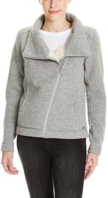 bluza BENCH - Bonded Teddy Biker Jacket Winter Grey Marl (MA1054)