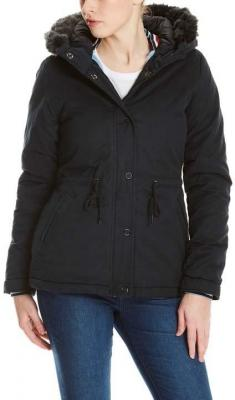 kurtka BENCH - Padded Jacket With Fur Lining Black Beauty (BK11179)