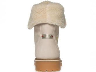 Sznurowane damskie buty SOCCX (beżowe)