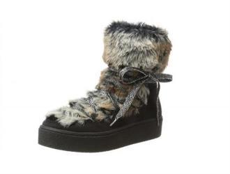 Damskie buty zimowe (czarne) BUGATTI (421288505959)