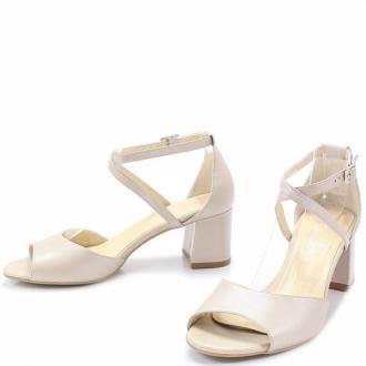 KOTYL 3803 PERŁOWY LICO - Taneczne sandałki