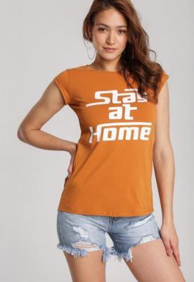 Camelowy T-shirt Loraisea