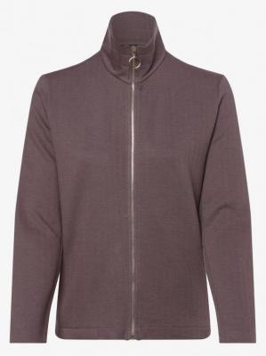Franco Callegari - Damska bluza rozpinana z dodatkiem lnu, beżowy