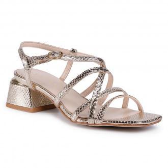 Sandały SAGAN - 4202 Złoto Łamane