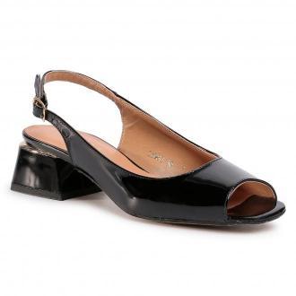 Sandały SAGAN - 3980 Czarny Lakier