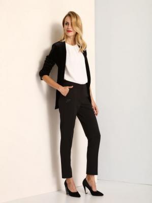 Spodnie długie damskie proste, zwężane
