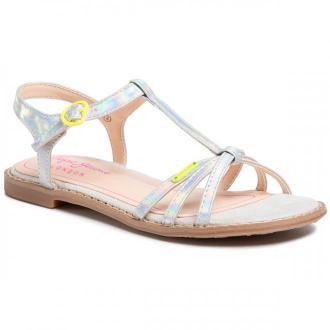Sandały PEPE JEANS - Elsa Iridiscent PGS90139 Silver 934