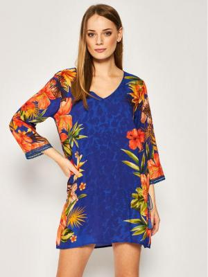 Desigual Sukienka plażowa Corcega 20SWMW19 Kolorowy Regular Fit