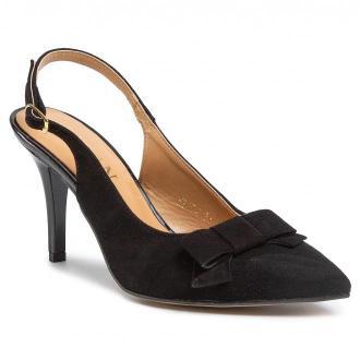 Sandały SAGAN - 3974 Czarny Welur