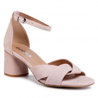 Sandały ANN MEX - 0320 02W Pudrowy Róż