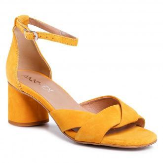 Sandały ANN MEX - 0320 10W Żółty