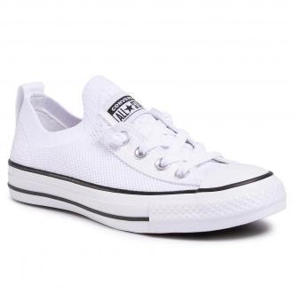 Trampki CONVERSE - Ctas Shoreline Knit Slip 565490C White/Black/White