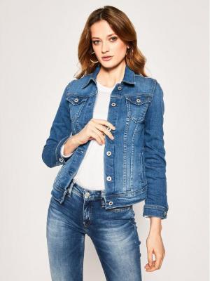 Pepe Jeans Kurtka jeansowa Thrift PL400755 Niebieski Regular Fit
