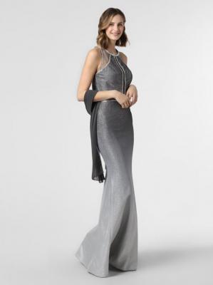 Luxuar Fashion - Damska sukienka wieczorowa, szary