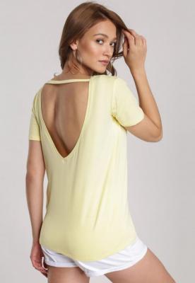Jasnożółty T-shirt Jelissa